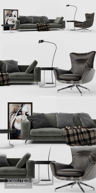 Minotti Set 01 Sherman Sofa