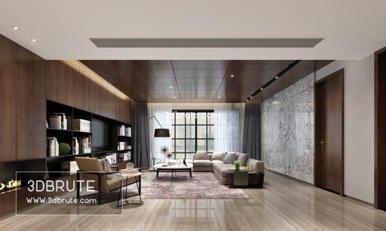 Modern living room 3dmodel 3dsmax (2)