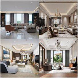 Sell Living room modern style vol2 -118-3dmodel