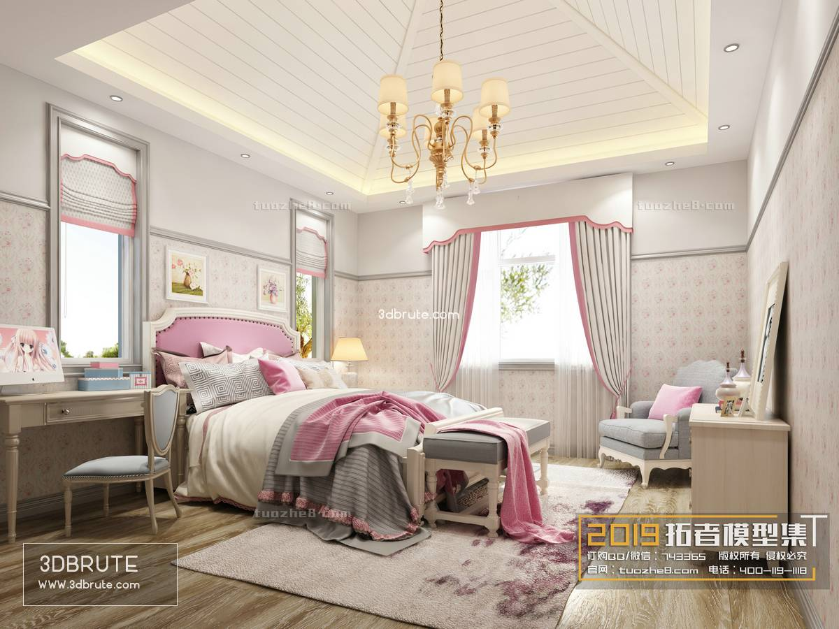 Sell Bedroom Children's room 2019 3dmodel