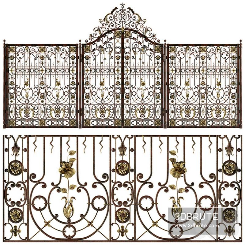 Wrought iron gates - Download -3d Models Free -3dbrute