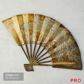Asian Brass Fan 59 3d model Download 3dbrute