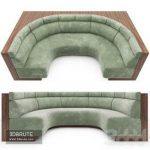 Banquette 76 3d model Download 3dbrute