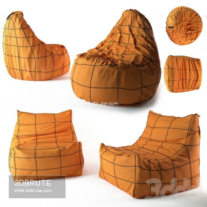 Marvelous Bean Bag Chair Bag Download 3D Models Free 3Dbrute Pabps2019 Chair Design Images Pabps2019Com
