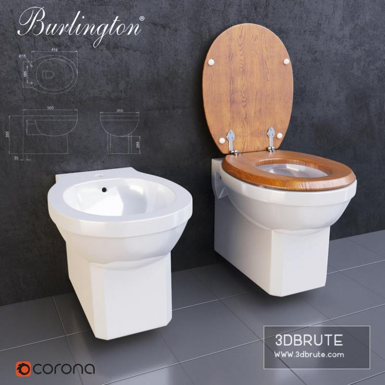 Burlington bidet and toilet