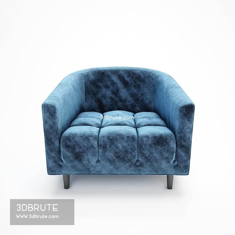 Sofa Modeling In 3ds Max Free Download  carla petrol velvet armchair download 3d models free 3dbrute
