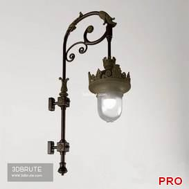 Classic Exterior Lamp 49 3d model Download 3dbrute