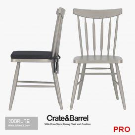 Crate &  Barrel - Willa Dove Wood Dining Chair 72 3d model Download 3dbrute