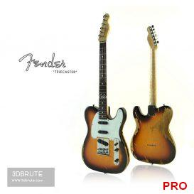 Fender Telecaster 79 3d model Download 3dbrute