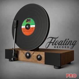 Floating Record Vertical Turntable 51 3d model Download 3dbrute