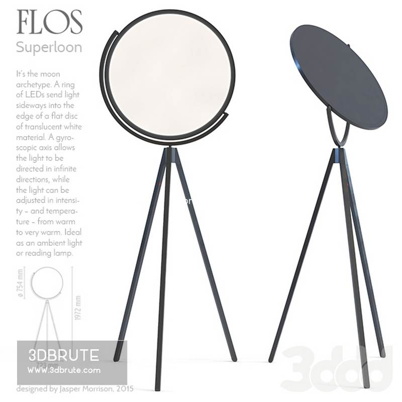 wholesale dealer d0f97 44c76 Flos Superloon Floor lamp - Download -3d Models Free -3dbrute