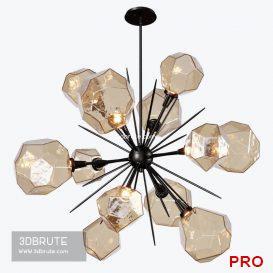 Gem Starburst Chandelier Ceiling light