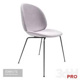 Gubi Beetle Dining Chair Velvet 35 3d model Download 3dbrute