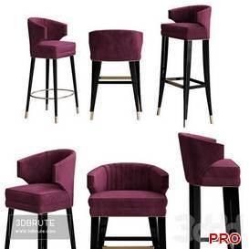 Ibis bar chair by Brabbu 30 3d model Download 3dbrute