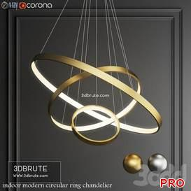 indoor modern circular ring chandelier 7 3d model Download 3dbrute