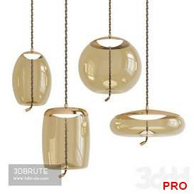 Knot Cilindro Pendant Light 13 3d model Download 3dbrute