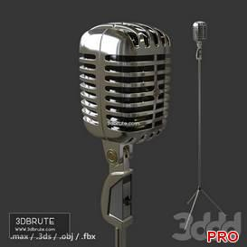 Microphone Shure 55 68 3d model Download 3dbrute