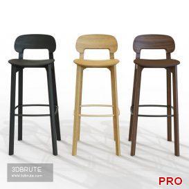 Nonoto Bar chair 41 3d model Download 3dbrute
