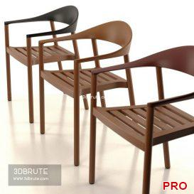 Plank Monza Armchair Outdoor 64 3d model Download 3dbrute
