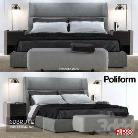 Poliform Chloe Letto Bed 3dmodel