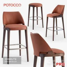Potocco Velis barstool 49 3d model Download 3dbrute