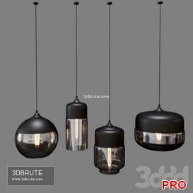 Retro Pendant Lamps 16 3d model Download 3dbrute