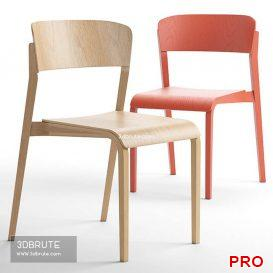 Tapered Chair 42 3d model Download 3dbrute