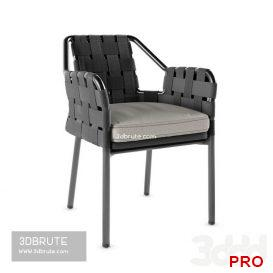 Varaschin obi chair 65 3d model Download 3dbrute