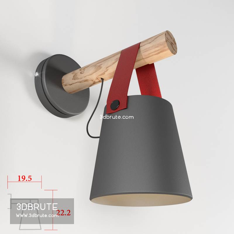 Hanging Wall Lamp: Wooden Lantern Nordic Hanging Wall Lamp