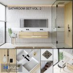 Bathroom set 2 (vray GGX, corona PBR)