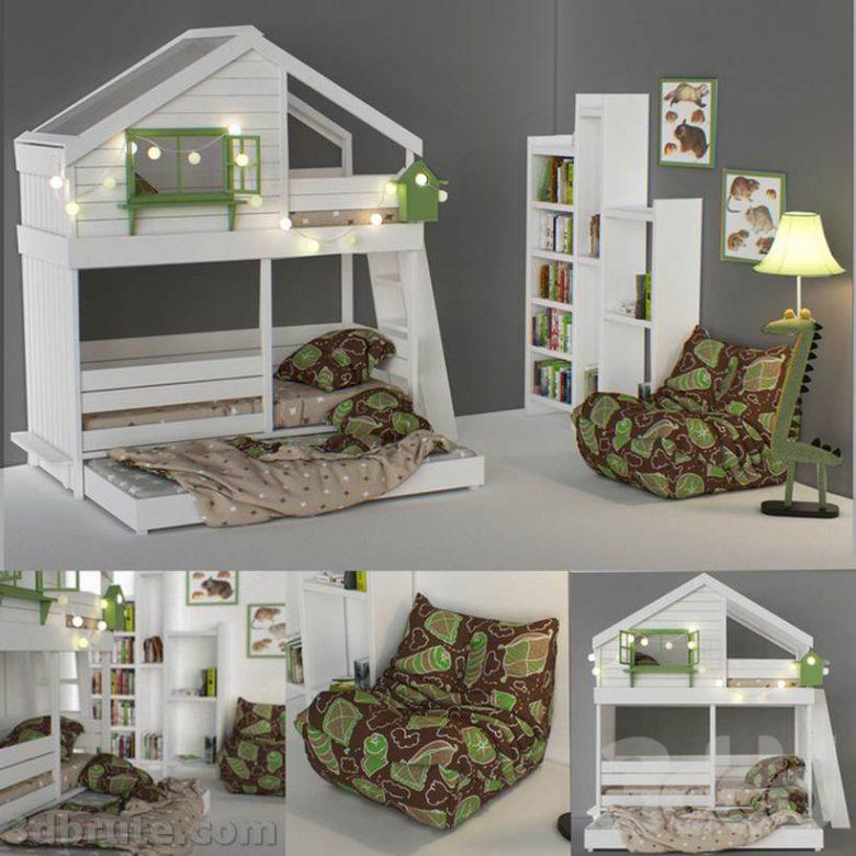 Kids Bedroom Sets 3dmodel