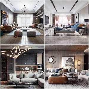 living room modern style vol5 2019 3d model