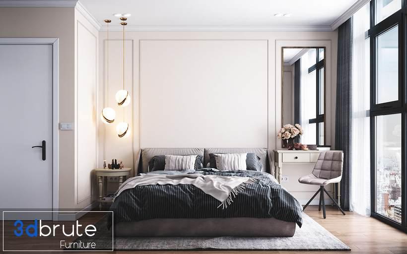 Bedroom corona file download free - -3d Model -3dbrute