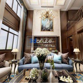Living room Scene classic 360 vray free (1)