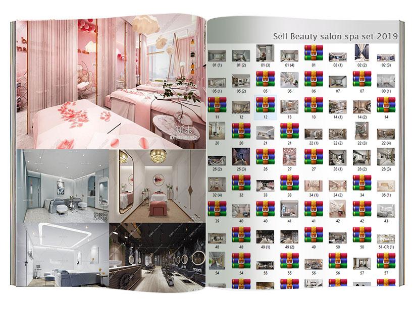 Sell Beauty salon spa set 2019 3dmodel