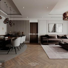 3D Scenes living room, bedroom , restaurant, bathroom