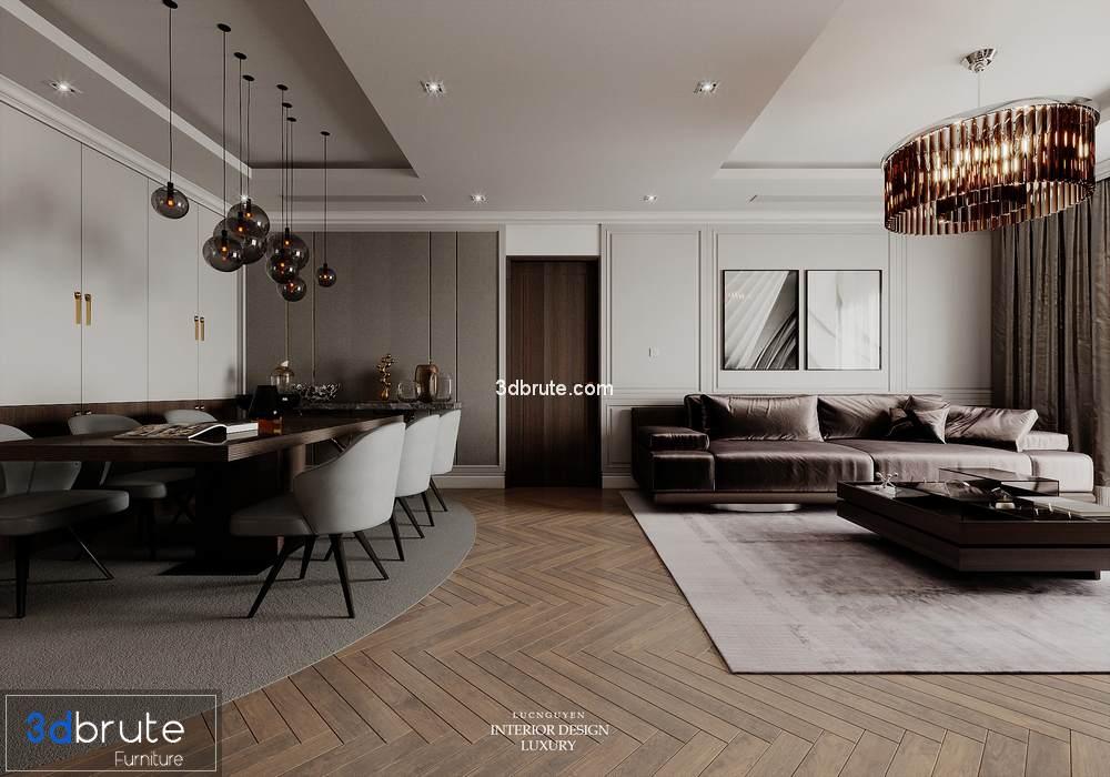 Livingroom Corona Modern 3dsmax Download Free 3d Models 3dbrute