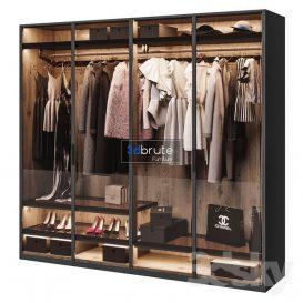 Poliform wardrobe 3d model 3dsmax (1)