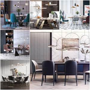 Sell Table and chair vol 2 set 2019 3d model 2