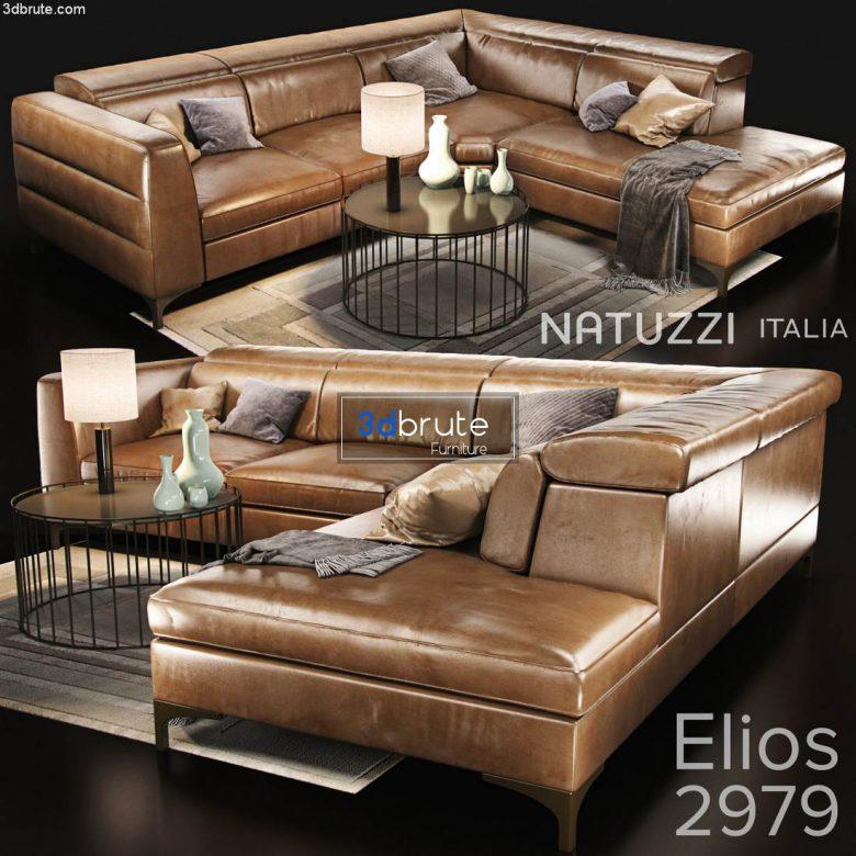 sofa natuzzi elios-2979 main 3dmodel 3dsmax