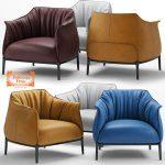 Armchair poltrona frau archibald  3d model  Buy Download 3dbrute