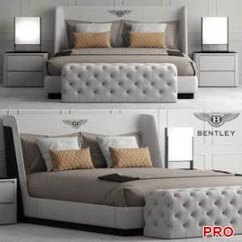 Bed bentley home Richmond Bed  3d model  Buy Download 3dbrute