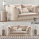Turri Vogue sofa set