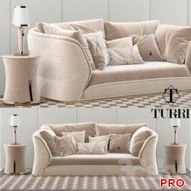Turri Vogue sofa set  3d model  Buy Download 3dbrute