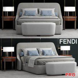 Bed Fendi Casa Audrey Bed 16 3d model Download 3dbrute