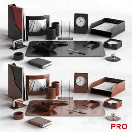 Desk set for the manager Buvardo.  3d model  Buy Download 3dbrute