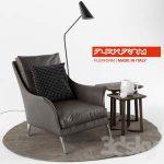 Flexform Boss Armchair  3d model  Buy Download 3dbrute