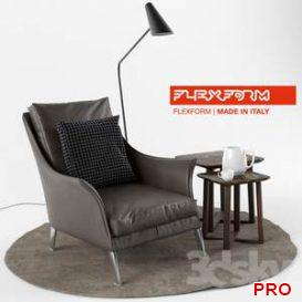 Flexform Boss Armchair  3d model  Buy Download 3dbrute