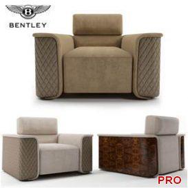 Bentley-Portobello-armchair  3d model  Buy Download 3dbrute