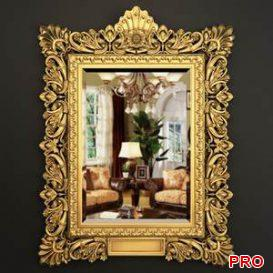 Richly Carved And Gilf Frame 18 3d model Download 3dbrute